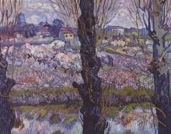 """View of Arles, Flowering Orchards"" , 1889, Vincent van Gogh"
