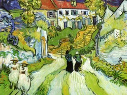Village Street and Steps in Auvers with Figures, 1890 Vincent van Gogh