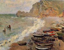 Beach at Etretat, 1883 Claude Monet