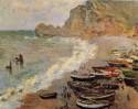 Beach at Etretat, 1883 Claude Monet