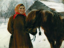 Peasant woman with horse