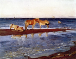 horses on a shore 1905 XX the russian museum st petersburg russia