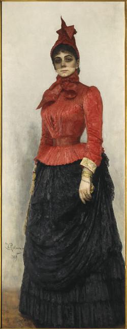 portrait of baroness varvara ikskul von hildenbandt 1889 XX moscow russia
