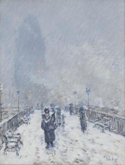 Bridge in Snow, Brooklyn, 1894
