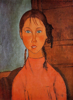 girl with braids 1918 XX the nagoya city art museum nagoya japan