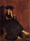 berthe morisot with a fan 1872 XX musee dorsay paris france