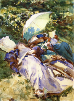 The Green Parasol (also known as Two Women with a Parasol), 1910