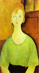Girl in a green blouse