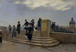 A Windy Day on the Pont des Arts, 1880/81