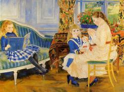 Childrens afternoon at wargemont 1884 xx nationalgalerie berlin