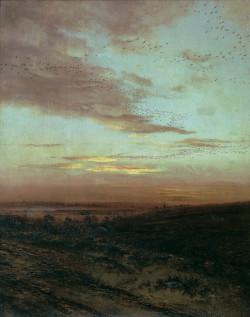Evening. Birds Flying Away. 1874 The art museum odessa ukraine