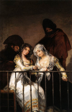 Majas on a Balcony, circa 1800-1810