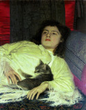 Girl with cat, 1882