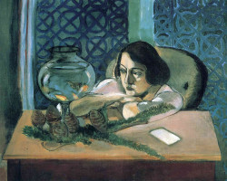 Woman before a fishbowl, 1922