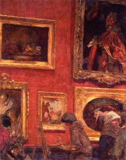 At the Louvre, la Salle Lacaze, 1921