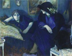 Conversation entre deux femmes