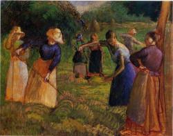 Haymaking in Eragny 1901