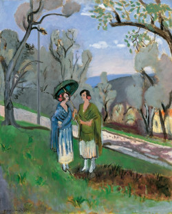 Conversation amont the olive trees, 1921