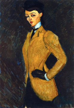 woman in yellow jacket the amazon 1909 XX private collection