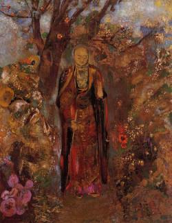 Buddah Walking among the Flowers 1905