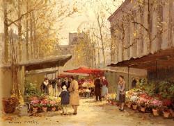 Cortes Edouard Marche Aux Fleurs A La Madeleine