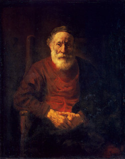 Portrait of an old man in red, 1652 54