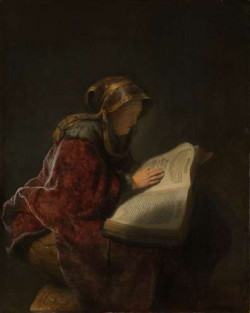 An Old Woman Reading, Probably the Prophetess Hannah, 1631