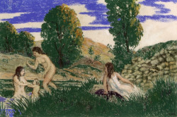 Bathers by the water, 1898