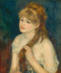 Young woman braiding her hair 1876 xx national gallery of art washington