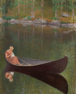 Woman in a boat, 1922