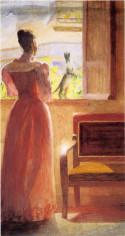 Lady by a window