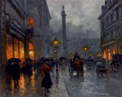 Place Vendome in Rain