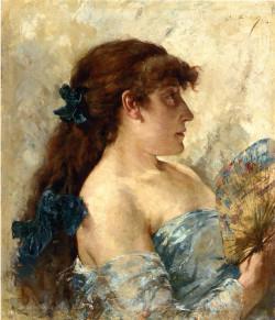 Woman with a fan, 1881