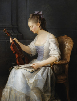 Portrait of a young violinist, 1773