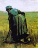 Peasant woman digging, 1885