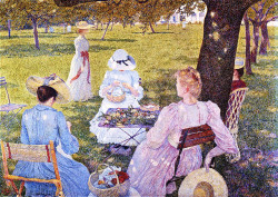 The Family in an Orchard (also known as July before Noon), 1890