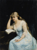 Portrait of a Young Woman Reading, 1880