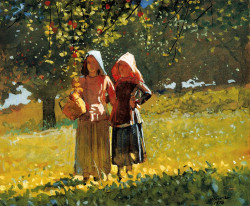 Apple Picking aka Two Girls in sunbonnets or in the Orchard