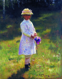 Girl with Flowers, Ilya Repin