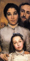 Portrait of Aime-Jules Dalou, His Wife and Daughter Sir Lawrence Alma-Tadema - 1876