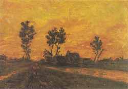 Landscape at sunset 1885 xx private collection