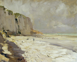 beach at dieppe study 1890s the tretyakov gallery moscow russia