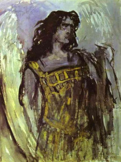 fedor shalaypin as demon in rubinsteins opera demon sketch for poster 1903 the russian museum st petersburg russia