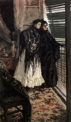 in front of the balcony leonora and ampara 1888 1889 the tretyakov gallery moscow russia