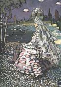 Russian Beauty in a landscape, 1905