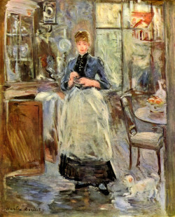 In the dining room, 1886