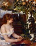La jeune fille au chat, 1879