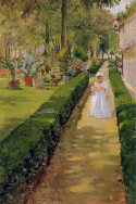 Child on a garden walk, 1888