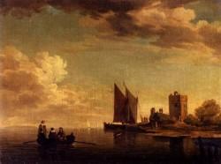 Two Views Of Blankenburg Castle Off The Coast Of Flanders