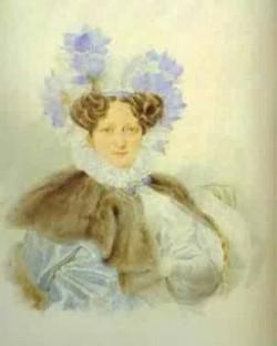 Portrait of c i zagriazhskaya 1820s xx the pushkin museum in moscow russia
